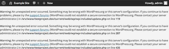 Erro de conexão seguro no WordPress