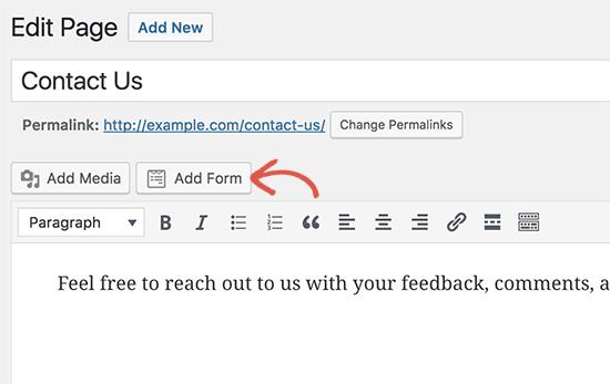 Adicionar botão de formulário