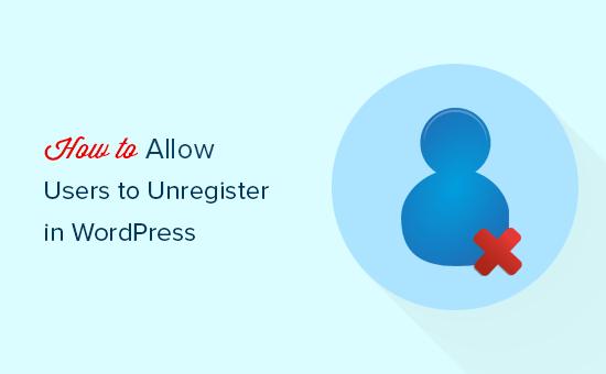 Permitir que os usuários excluam suas contas no WordPress