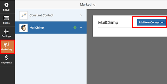 Adicionar nova conexão de e-mail