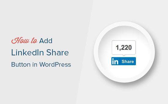 Adicionando o botão de compartilhamento do LinkedIn no WordPress