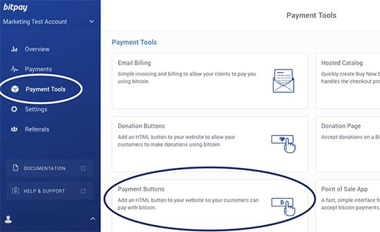 Crie botões de pagamento do Bitcoin com o BitPay