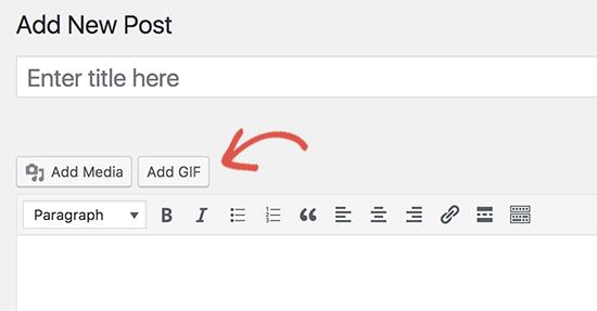 Adicionar botão GIF no editor de postagens do WordPress