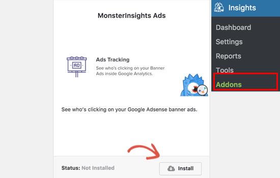 Addon de rastreamento de anúncios