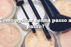 Como aplicar henna passo a passo?