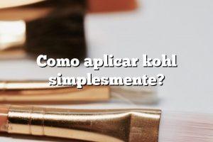 Como aplicar kohl simplesmente?